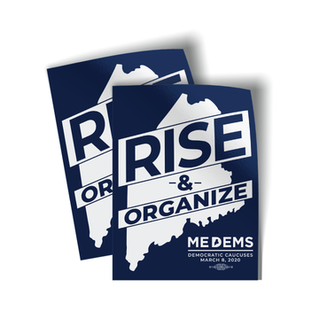 "Rise And Organize (3"" x 4"" Vinyl Sticker -- Pack of Two!)"