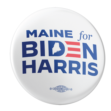 "Maine For Biden/Harris (2.25"" Pin-Back Button -- Pack of Two!)"