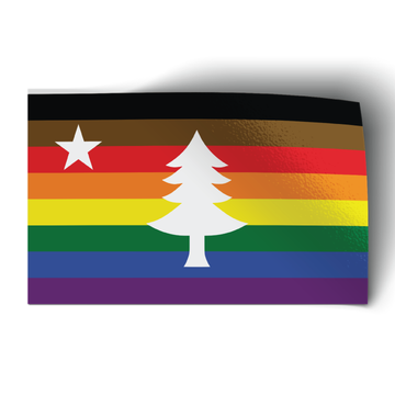 """1901 Maine Flag - Extended Pride (5"""" x 3"""" Vinyl Sticker -- Pack of Two!)"""