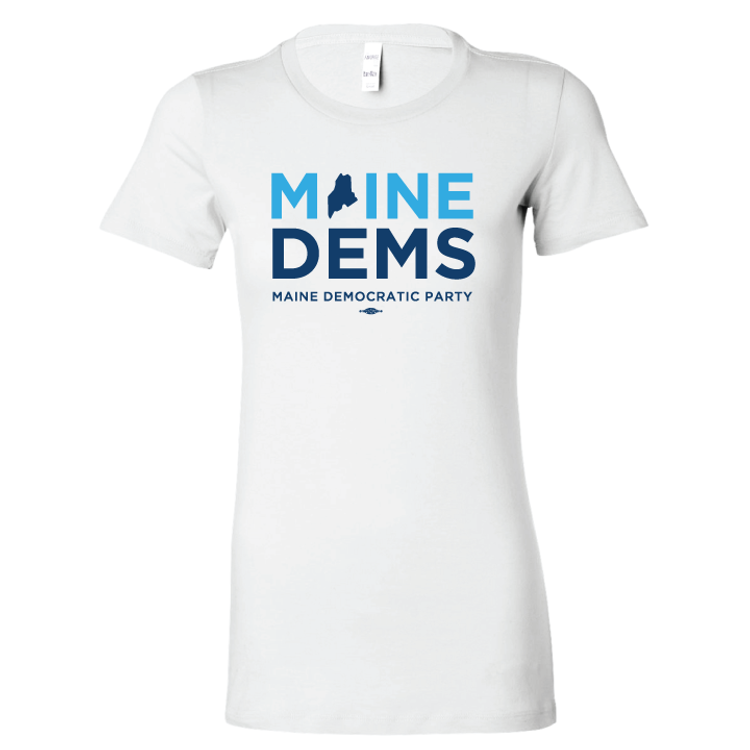 Maine Democratic Party Official Logo (Fitted White Tee)