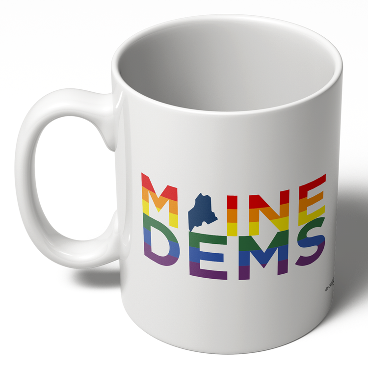 Maine Dems - Rainbow (11oz Ceramic Mug)