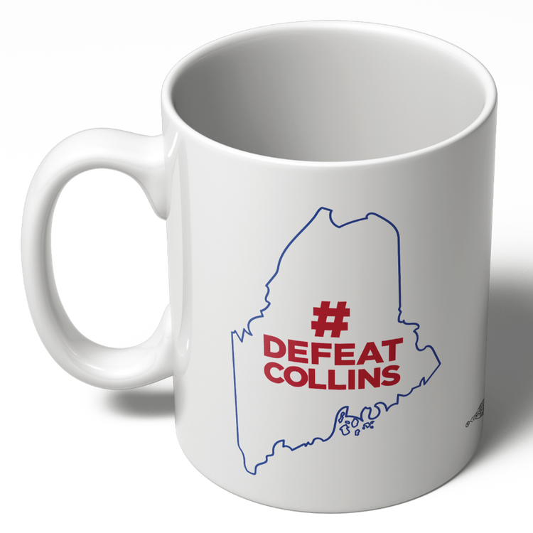 #DefeatCollins State Outline (11oz Ceramic Mug)