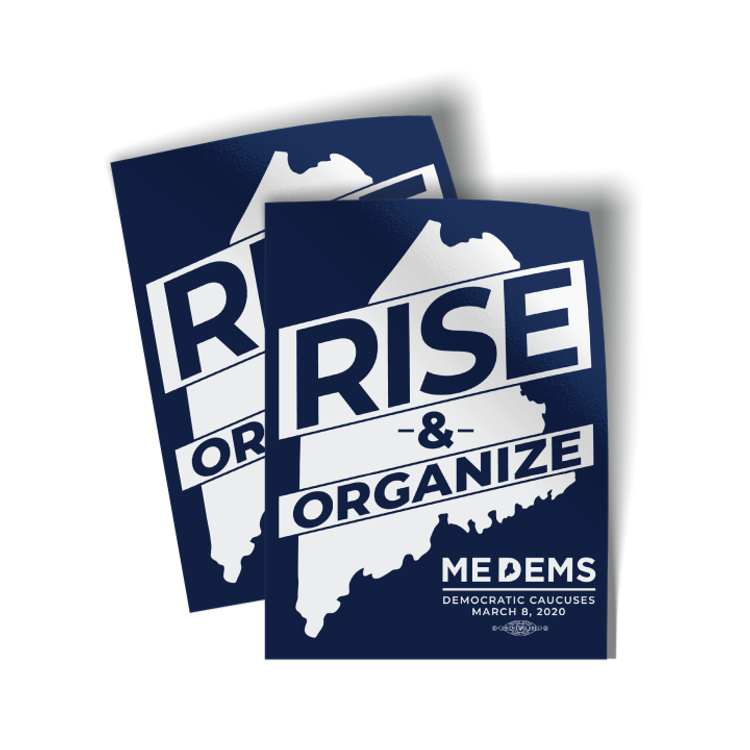 """Rise And Organize (3"""" x 4"""" Vinyl Sticker -- Pack of Two!)"""