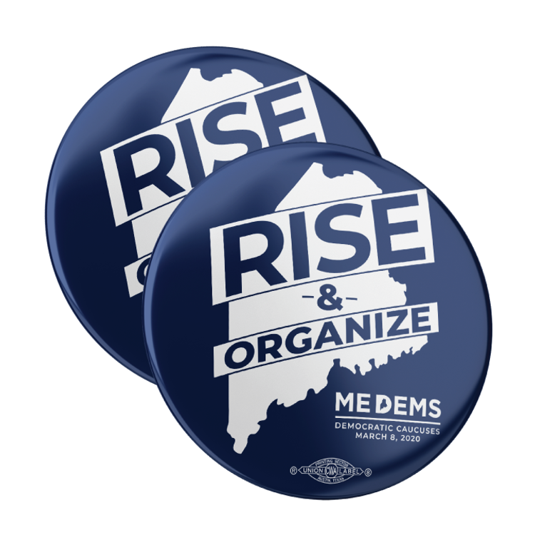"Rise And Organize (2.25"" Pin-Back Button -- Pack of Two!)"