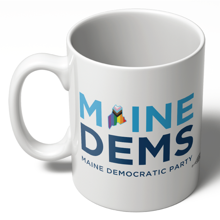 Maine Dems - Progressive Pride (11oz Ceramic Mug)