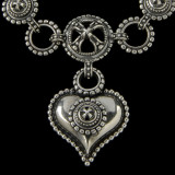 """""""Chili"""" Heart Necklace Pendant handmade in Sterling Silver by Bowman Originals, Sarasota, 941-302-9594"""