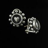 Heart Earring, Silver, handmade | Bowman Originals, Sarasota, 941-302-9594.
