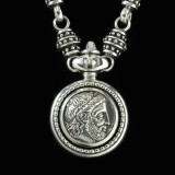 Philip of Macedonia Necklace Sterling Silver handmade medallion details by Bowman Originals, Sarasota, 941-302-9594.