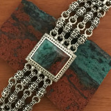 Sonora Chrysocolla Chainmail Bracelet by Bowman Originals