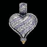 Laurel Leaf Pendant custom handmade with enamel by Bowman Originals.