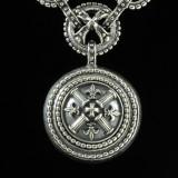 Fleur de lis Necklace pendant in Sterling Silver by Bowman Originals, 941-302-9594.