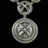 Fleur de lis Necklace pendant in Sterling Silver by Bowman Originals, 941-302-9594.