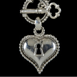 Key to my Heart Necklace Pendant handmade in Sterling Silver by Bowman Originals, Sarasota, 941-302-9594.