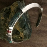 Sterling Silver Cuff Bracelet, Chrysocolla, Turquoiuse handmade by Bowman Originals, Sarasota, 941-302-9594