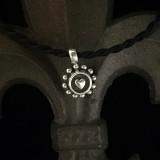 Heart Pendant, Beaded Sterling Silver, handmade by Bowman Originals, Sarasota, Florida, 941-302-9594