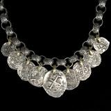 Handmade Sterling Silver and 18 k Gold Medallion Necklace by Bowman Originals, Sarasota, 941-302-9594.