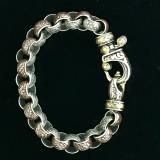 Handmade Silver, Gold, Enamel Bracelet, Bowman Originals, Sarasota, 941-302-9594