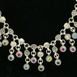 Bib Necklace with Gemstones handmade by Bowman Originals, SRQ, 941-302-9594