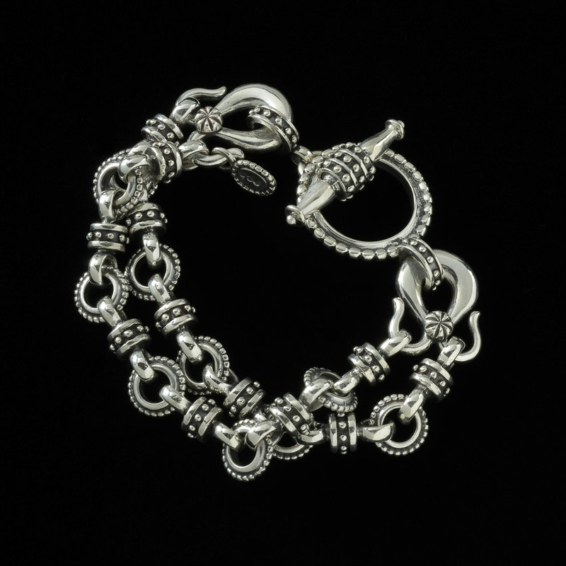 Toggle Bracelet, Sterling Silver, handmade, Bowman Originals Jewelry, Sarasota, 941-302-9594