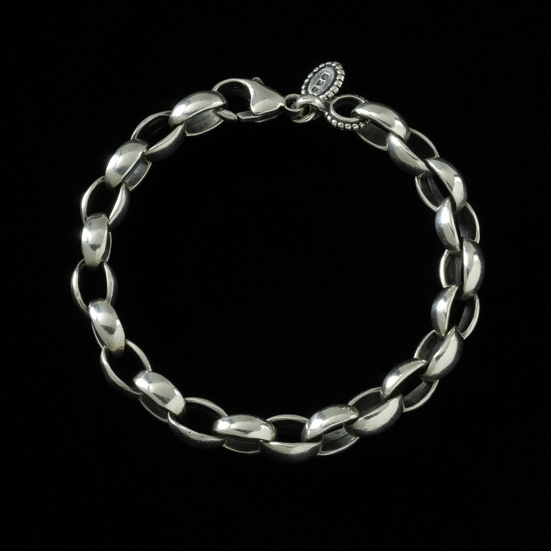 Poseidon Bracelet, handmade Sterling Silver links by Bowman Originals, Sarasota, 941-302-9594