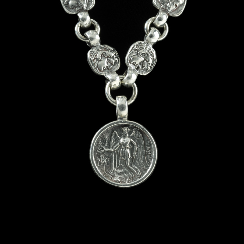 Nike Necklace, Sterling Silver links by Bowman Originals, Sarasota, 941-302-9594