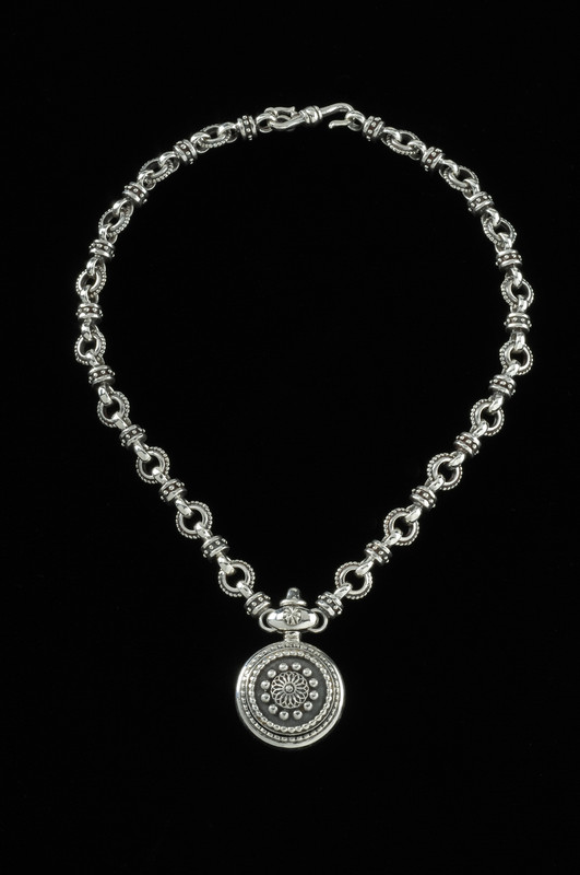 Sterling Silver Sundial Necklace, Bowman Originals , Sarasota, 941-302-9594