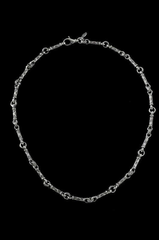Harvest Bar Chain, silver links by Bowman Originals Jewelry, Sarasota, 941-302-9594