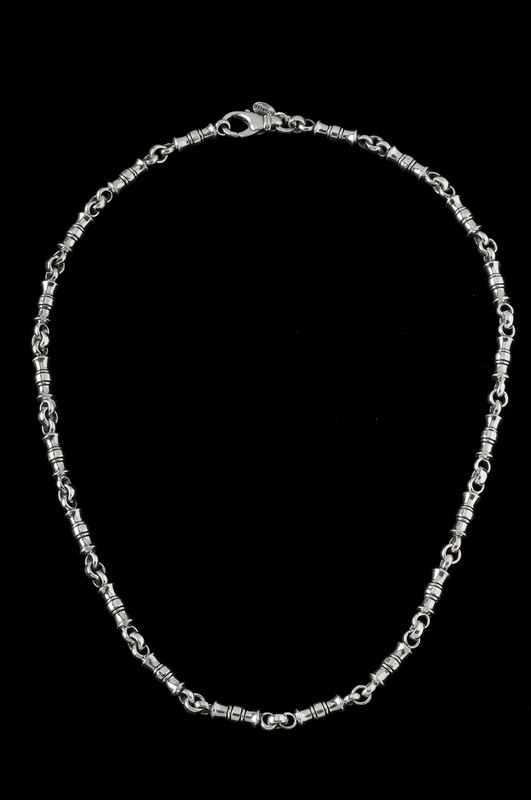 Greek Vase Chain, silver by Bowman Originals Jewelry, Sarasota, 941-302-9594