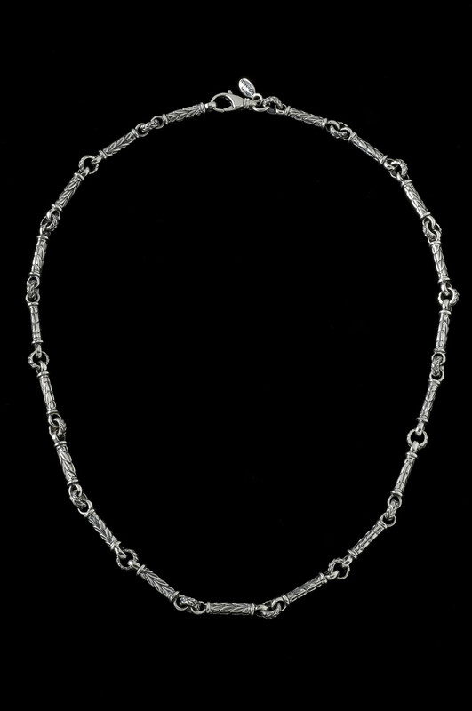 Leaf Bar Chain, silver links by Bowman Originals Jewelry, Sarasota, 941-302-9594.