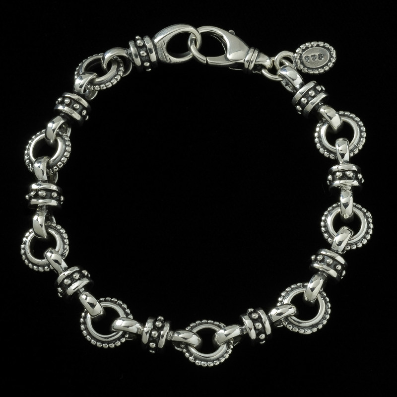Sundial Bracelet, Silver, by Bowman Originals, USA.