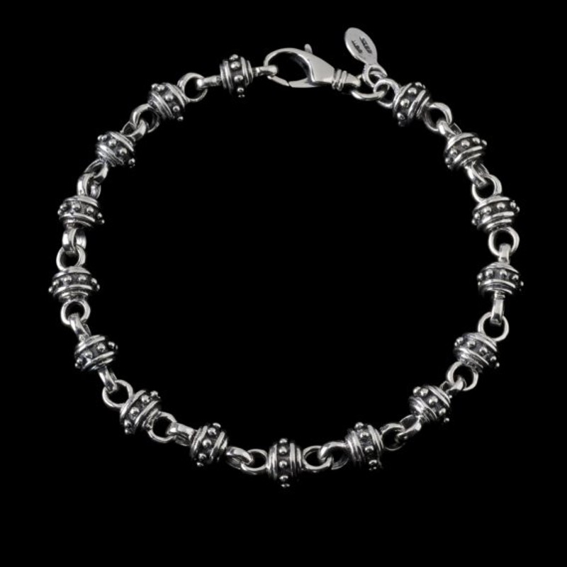 Alexander IV Bracelet, Silver Silver, handmade links | Bowman Originals Jewelry, Sarasota, 941-302-9594