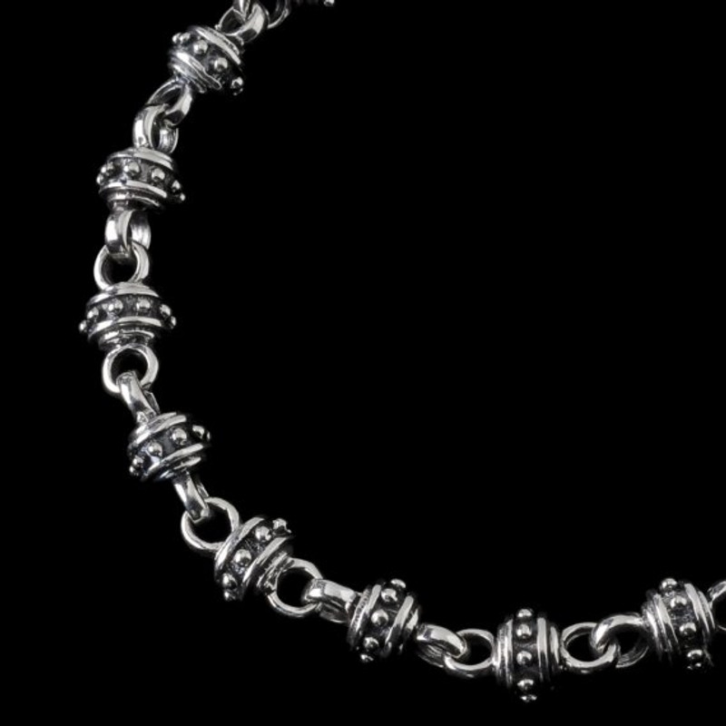 Alexander IV Bracelet, handmade links in Sterling Silver by Bowman Originals,  Sarasota, 941- 302-9594