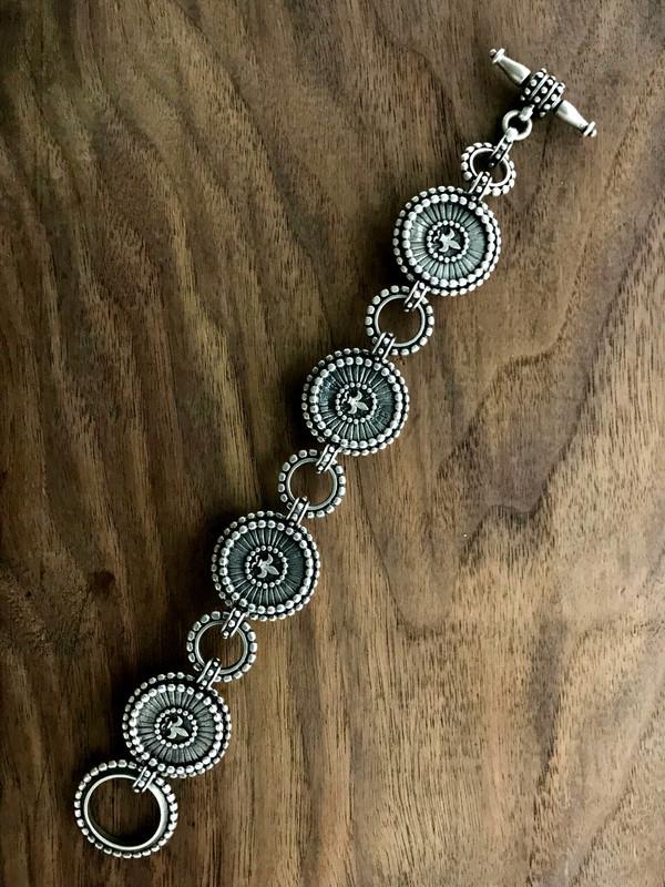 Strawberry Agate Silver Bracelet details | Bowman Originals