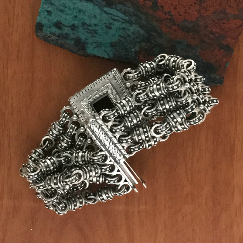 Clasp on Silver Chainmail Bracelet by Bowman Originals