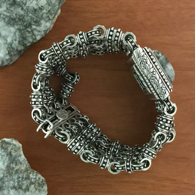 Handmade Silver and Silver Ore Bracelet | Bowman Originals