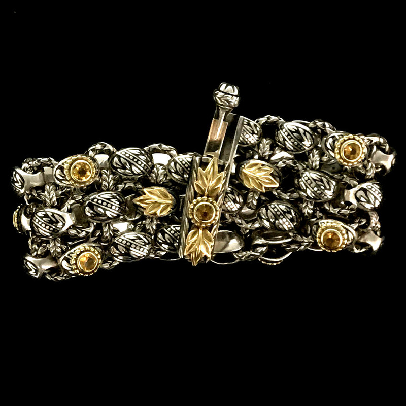 Laurel Leaf Bracelet clasp by Bowman Originals, Sarasota, 941-302-9594