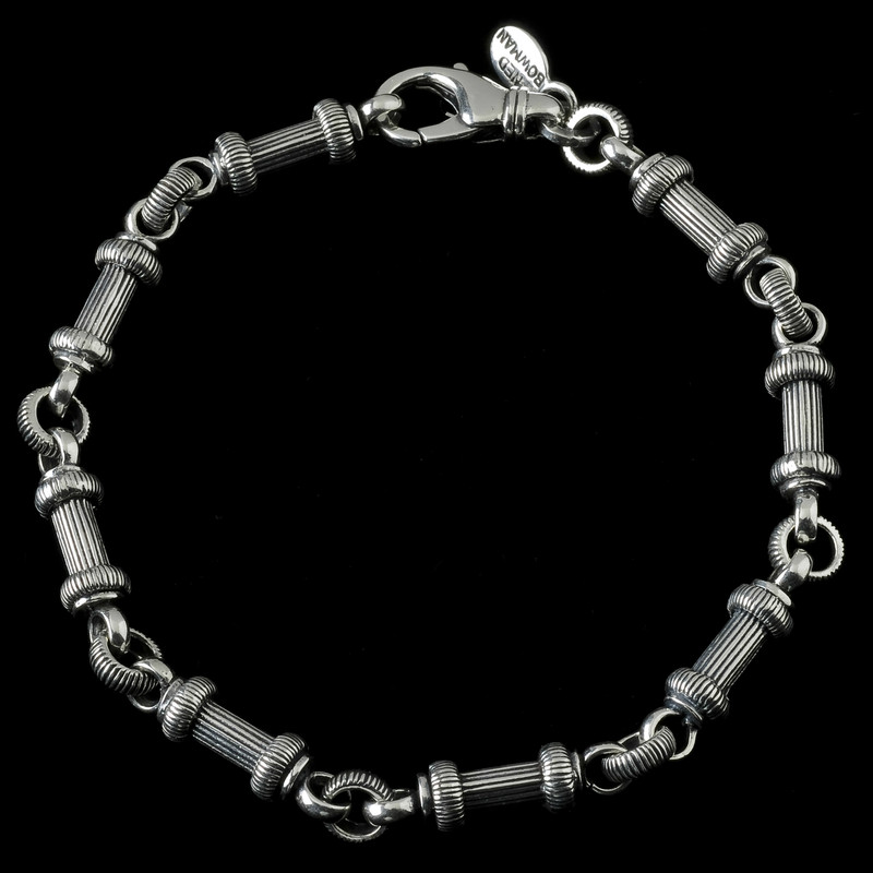 Barbell Bracelet handmade in Sterling Silver by Bowman Originals, Sarasota, 941-302-9594