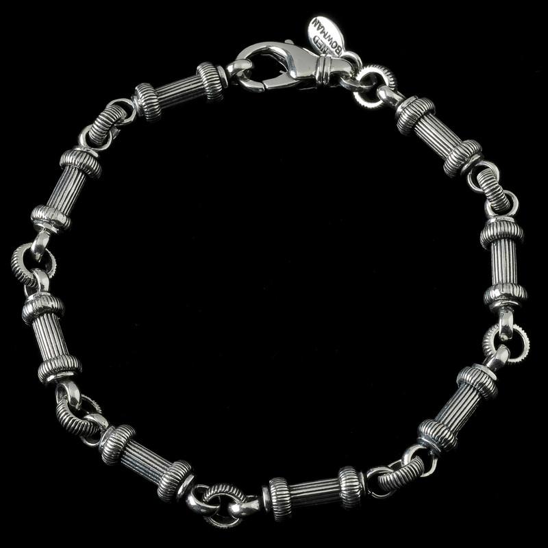 Barbell Bracelet handmade in Sterling Silver by Bowman Originals, Sarasota, 941-302-9594