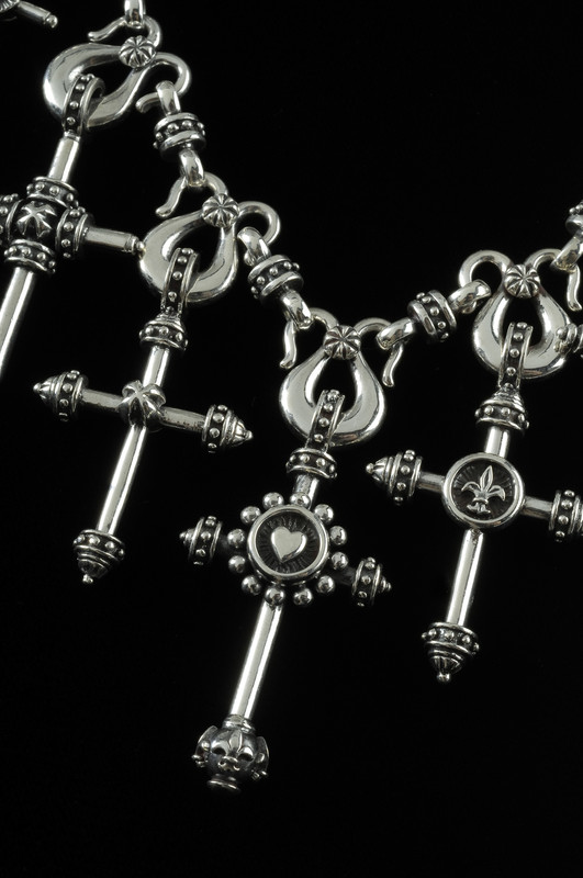 Cross Necklace details in Sterling Silver by Bowman Originals, USA