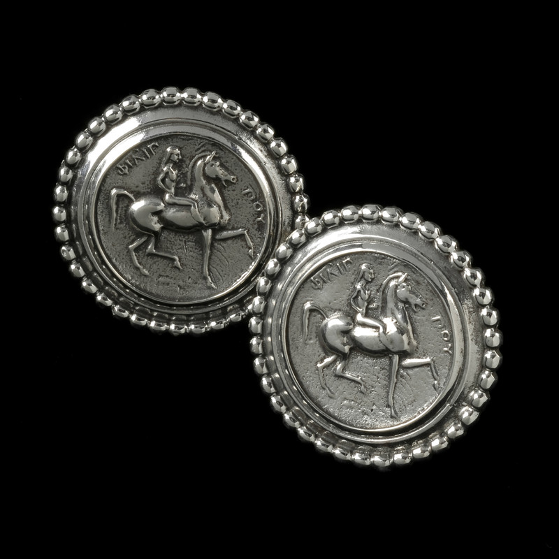 Lady Godiva Earrings with 14 k Gold posts and Omega Backs by Bowman Originals, USA