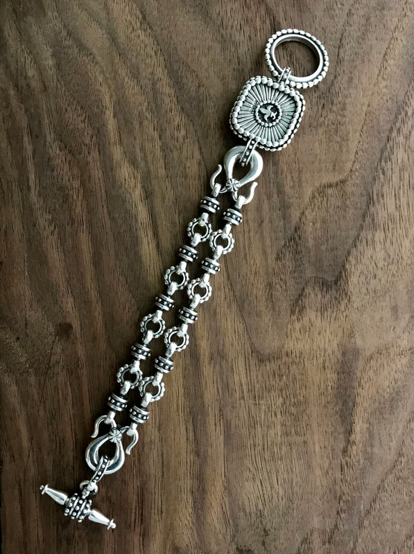 Silver Toggle Bracelet details handmade | Bowman Originals