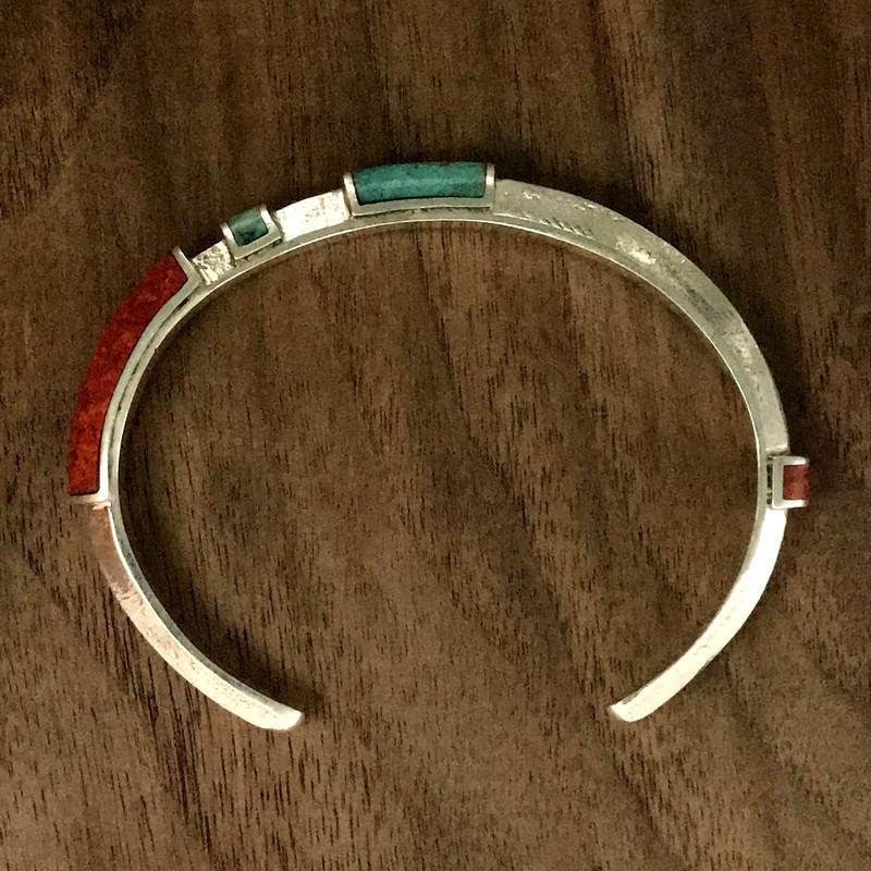 Handmade Organic Silver Cuff Bracelet, Chrsysocolla by Bowman Originals