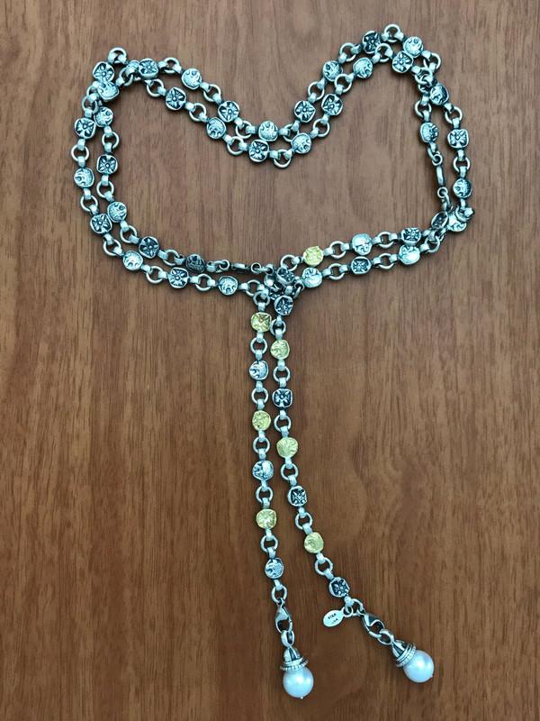 Lion Belt Necklace, Sterling Silver and 18 k Gold links handmade by Bowman Originals, Downtown Sarasota, 941-302-9594.