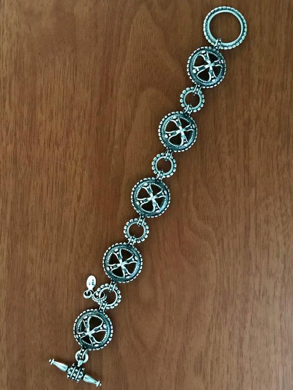 Link Toggle Bracelet handmade in Sterling Silver by Bowman Originals, Sarasota, 941-302-9594
