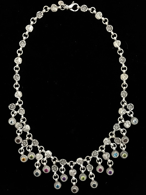 Silver & Gemstone Necklace, handmade, Bowman Originals, SRQ, 941-302-9594