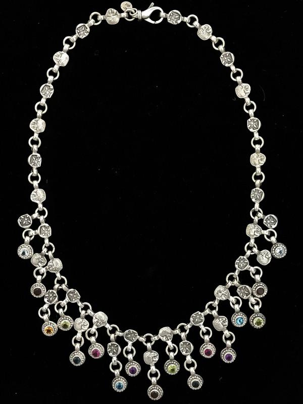 Silver & Gemstone Necklace, handmade, Bowman Originals, SRQ, 941-302-9594