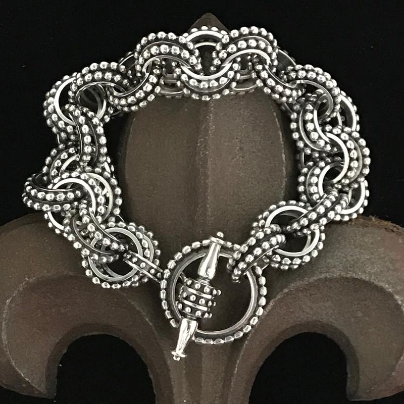 Double Link Sterling Silver Bracelet