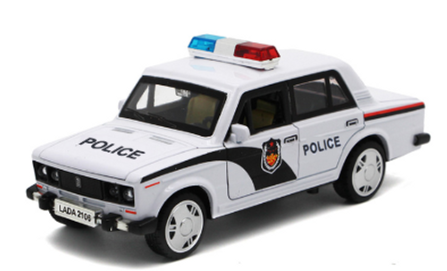 Russian Lada Police Toy Model