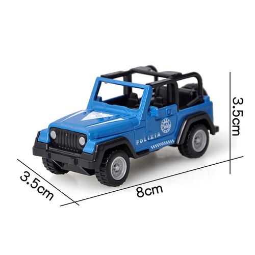 Police Jeep Wrangler Toy Model