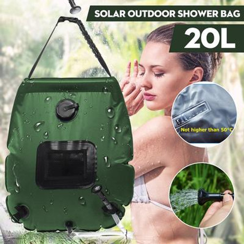 Portable Solar Heated Camping Shower